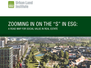 Zooming in on the 'S' of ESG: A road map for social value in real estate