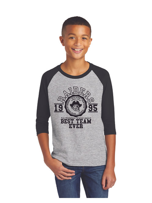 Sport Gray / Black Raglan Shirt