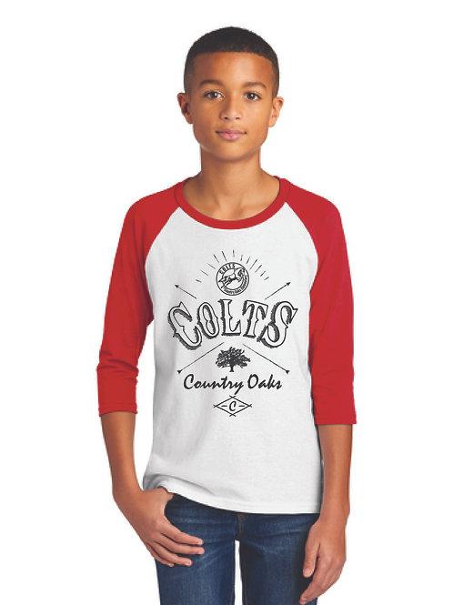 Red / White Raglan Shirt COE
