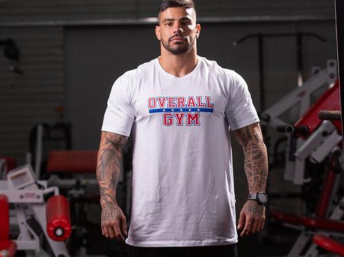Camiseta Overall Gym Respect - Branca