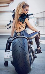 Biker, Motorbike, girl, beauty, fashion, photography, lashes