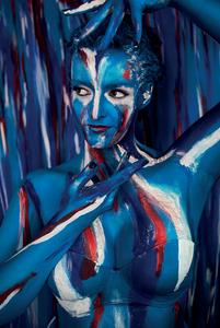 Art, full body, body paint, photography, beauty, lashes