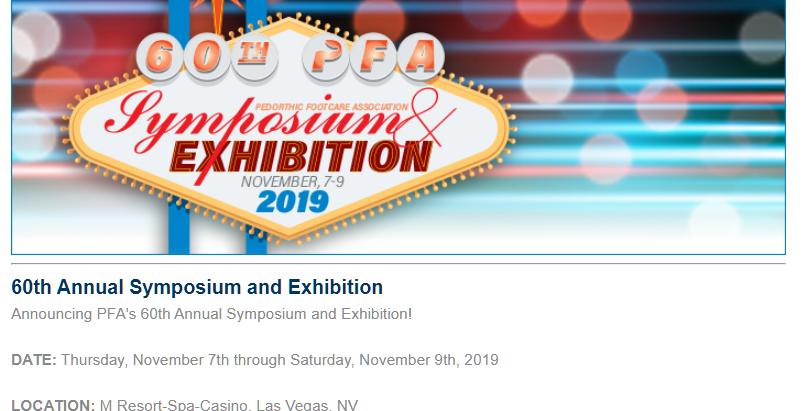 Pedorthic Footcare Association, 60th Exhibition, Las Vegas