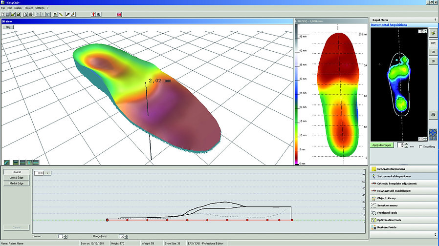 Orthotic CAD Software