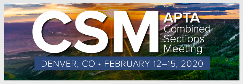 American Physical Therapy Association, CSM 2020, Denver