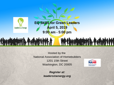 EQ Skills for Green Leaders Workshop on Fri Apr 5 in DC