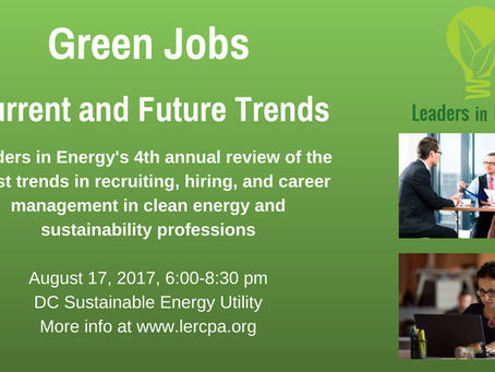 """4th Leaders in Energy Annual Green Jobs Event """"GREEN JOBS – Current & Future Trends"""""""