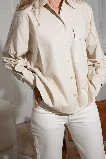 Tugba raw silk shirt