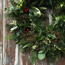 wreath kit wreath close up