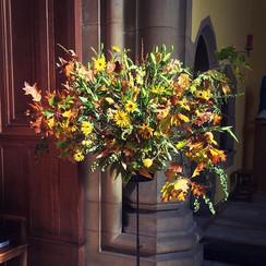 Harvest Service Flowers at Worksop College