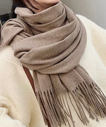 REAL CASHMIRE SOLID COLOR SCARF  79.00€