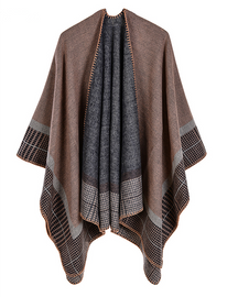 Plaid Ponchos And Capes For Women Oversized  119.00€