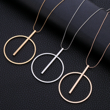 New Fashion Charms Long Chains Metal Necklaces   49.00€