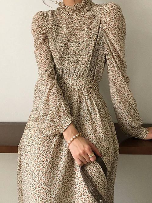 LONGSLEEVE PRINTED DRESS
