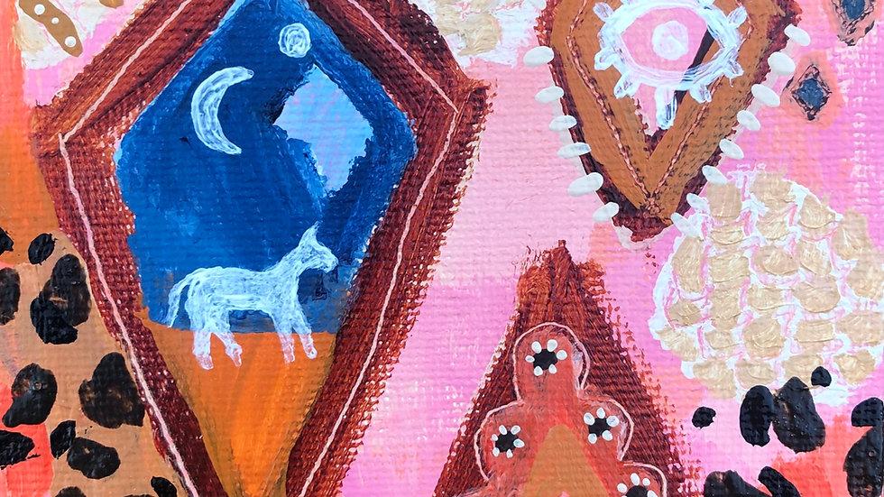 Tiny treasures painting  ~ Number three