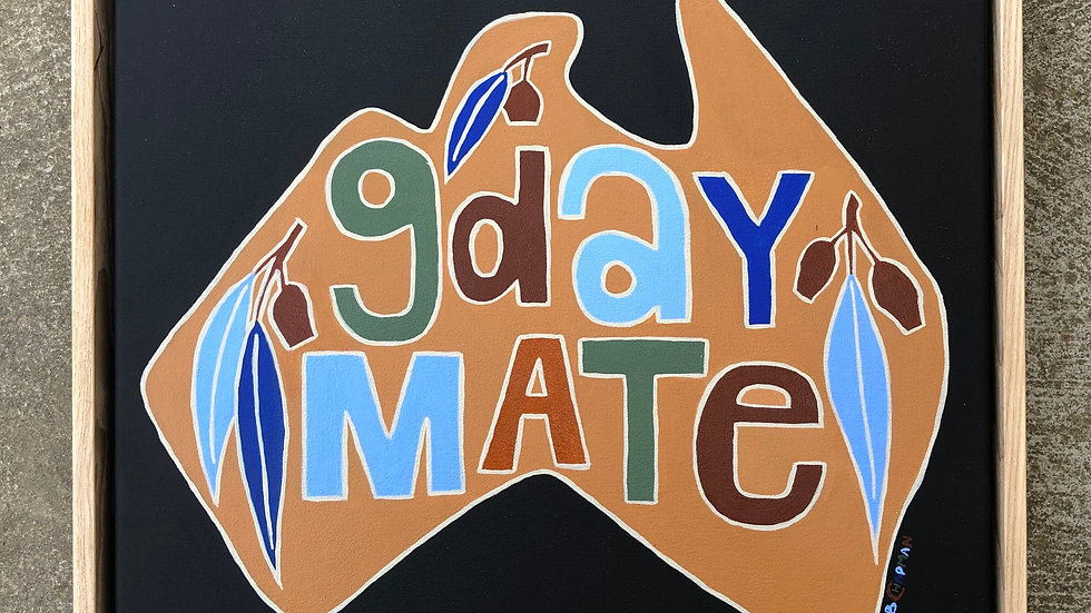 'G'day Mate' Earthy colours Original Painting