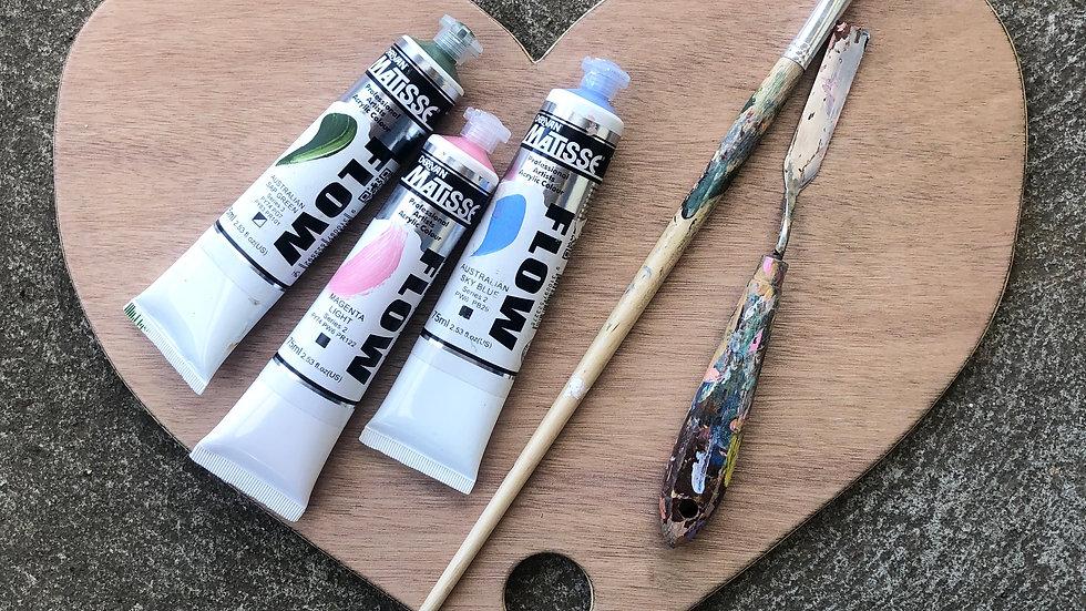 Love heart paint palette