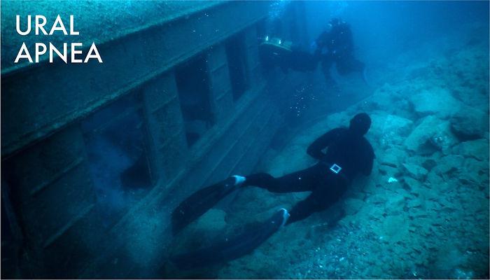 Рэк фридайвинг, wreck freediving, погружение на фридайвинг на затонувших объектах