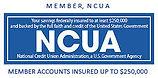 Savings insured by NCUA