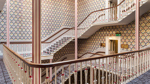 Amazing staircase at The Queens