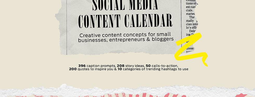 The 2021 Social Media Content Calendar