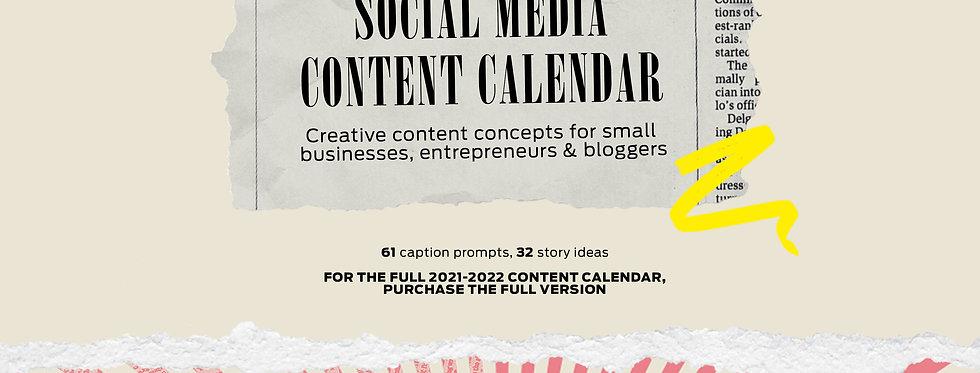 The 2-Month Social Media Content Calendar