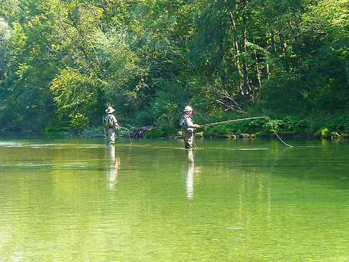 Fishermen at Sava Bohinjka river