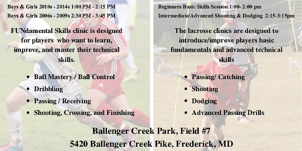 KCF Soccer & Boys Lacrosse FREE Clinic