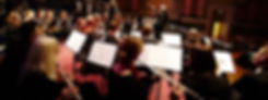 Photograph of Phoenix Concert Band performing at a corporate event at Leeds Town Hall