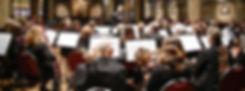 Photograph of Phoenix Concert Band performing at St Margaret's Church in Ilkley with conductor Keiron Anderson