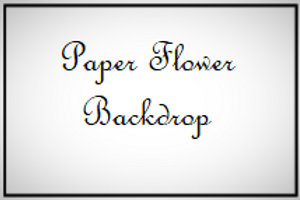 Floral Paper Wall Backdrop Decor