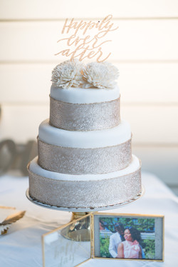 'Happily Ever After' Wedding Cake