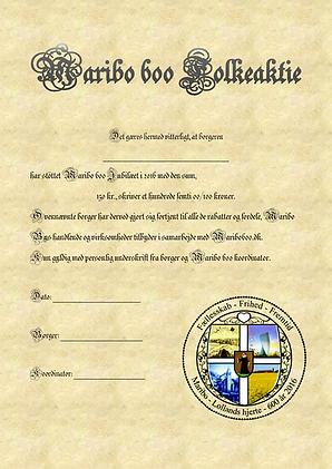 Maribo 600 folkeaktie