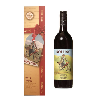 Rolling Christmas Shiraz Gift Box