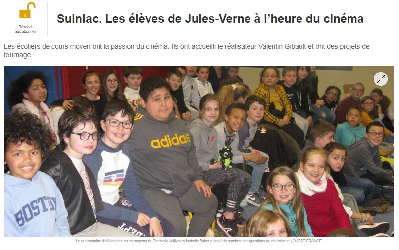 Intervention à l'école de Sulniac
