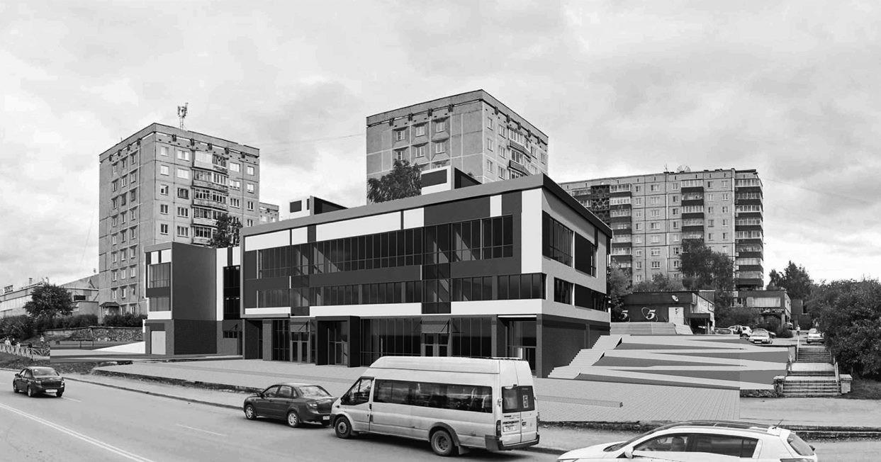 Здание Ленина  Космонавтов рис.1
