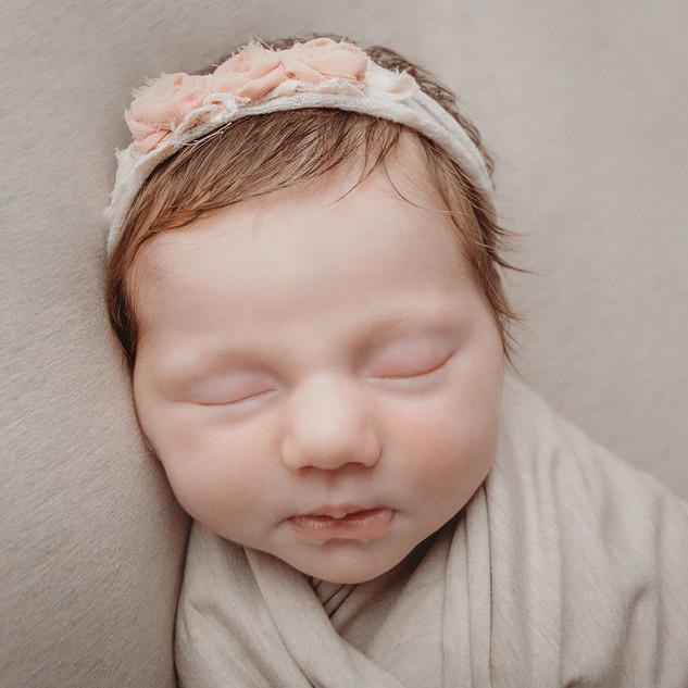 Geposeerde baby
