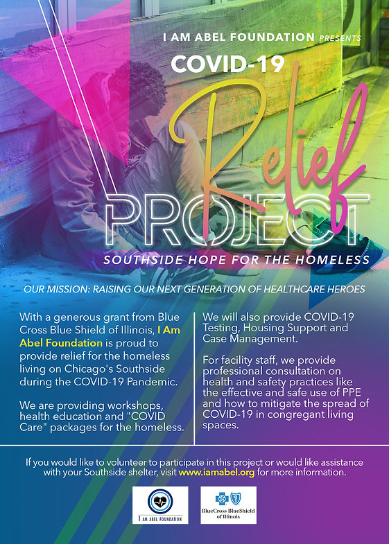 Learn more about I Am Abel Foundation's Covid-19 Relief Project: Southside Hope for the Homeless. Learn more at iamabel.org
