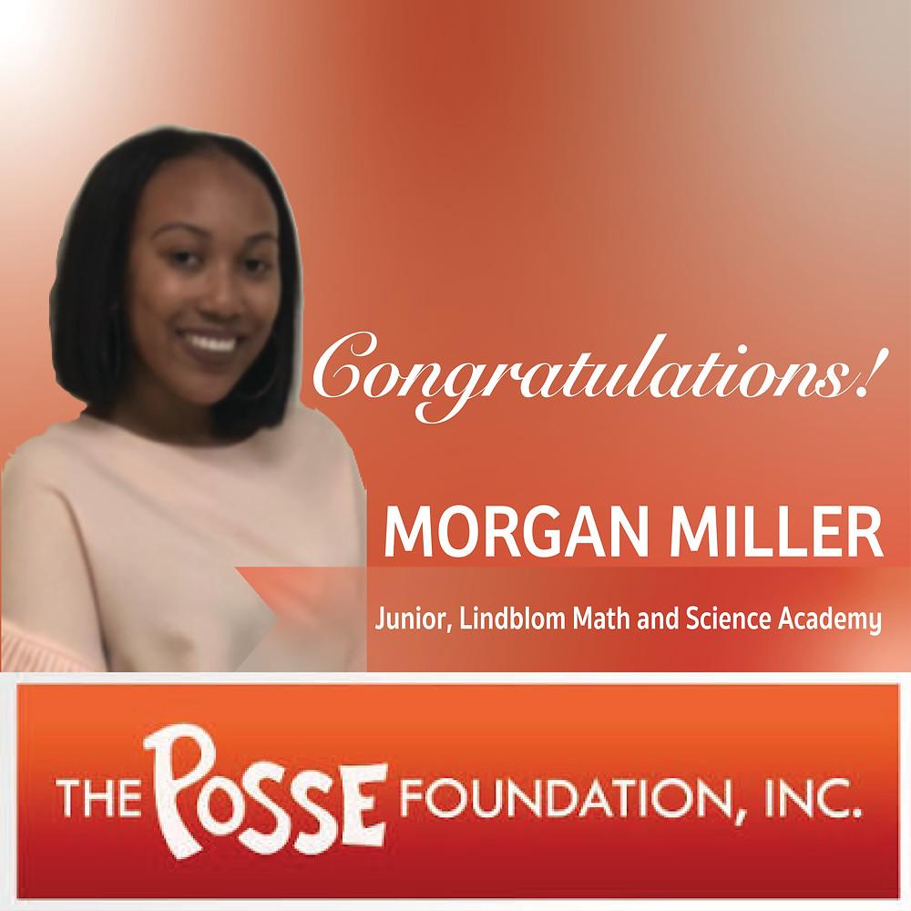 Congratulations, Morgan!