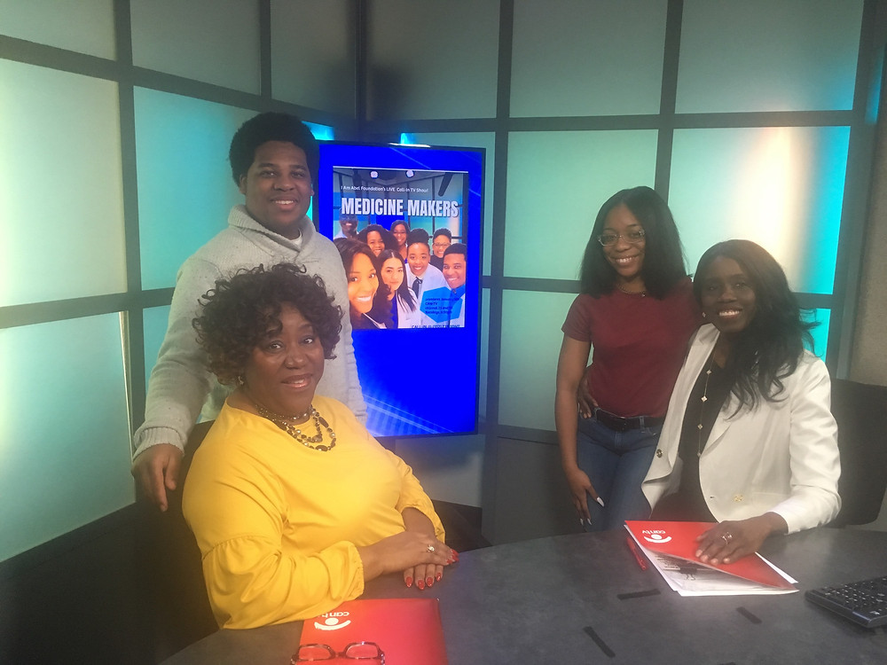 "Student Coordinator, Magnolia Oliver, Mentees Kelan Scott and Sheniya Griffin along with host, Dr. Oluwatoyin Adeyemi, opened up the premier show called ""Meet our Mentees"""