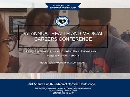 Calling All Students! Join our 3rd Annual Health and Medical Careers Conference. Register now!