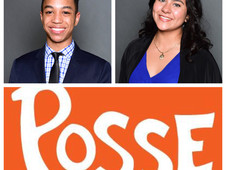 Congratulations Diana Guzman and Karl Wilson! Winners of Posse Foundation 2016-17 Full four year col