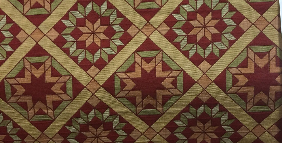 Patchwork Quilted Star - Red, Green, & Orange