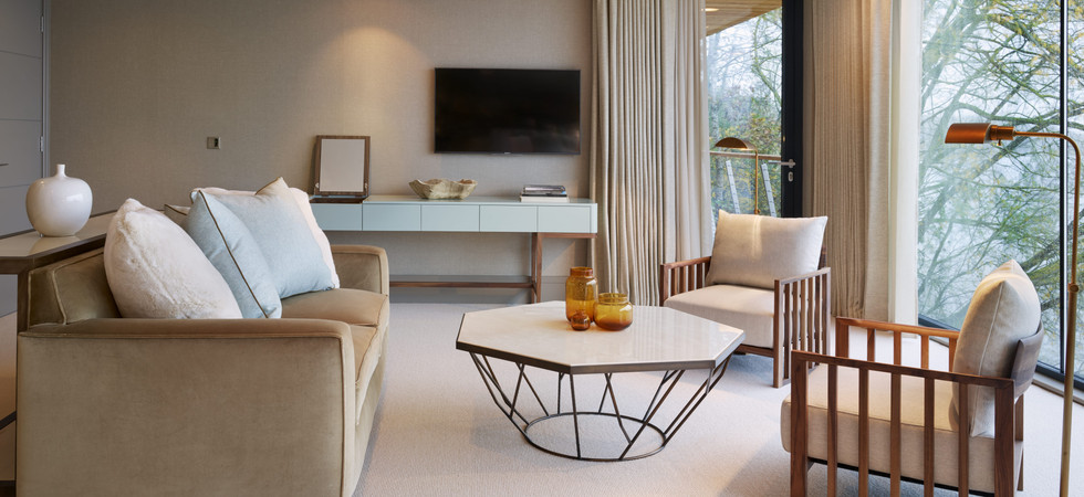Master Suite Television With Lakes Views