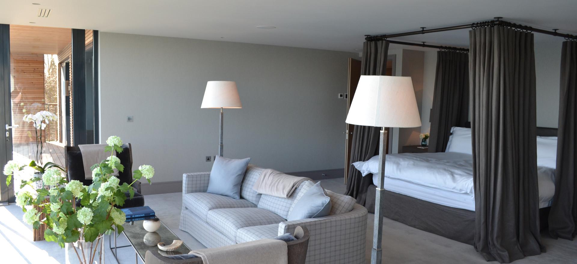 Luxury Lakes Master Bedroom AV