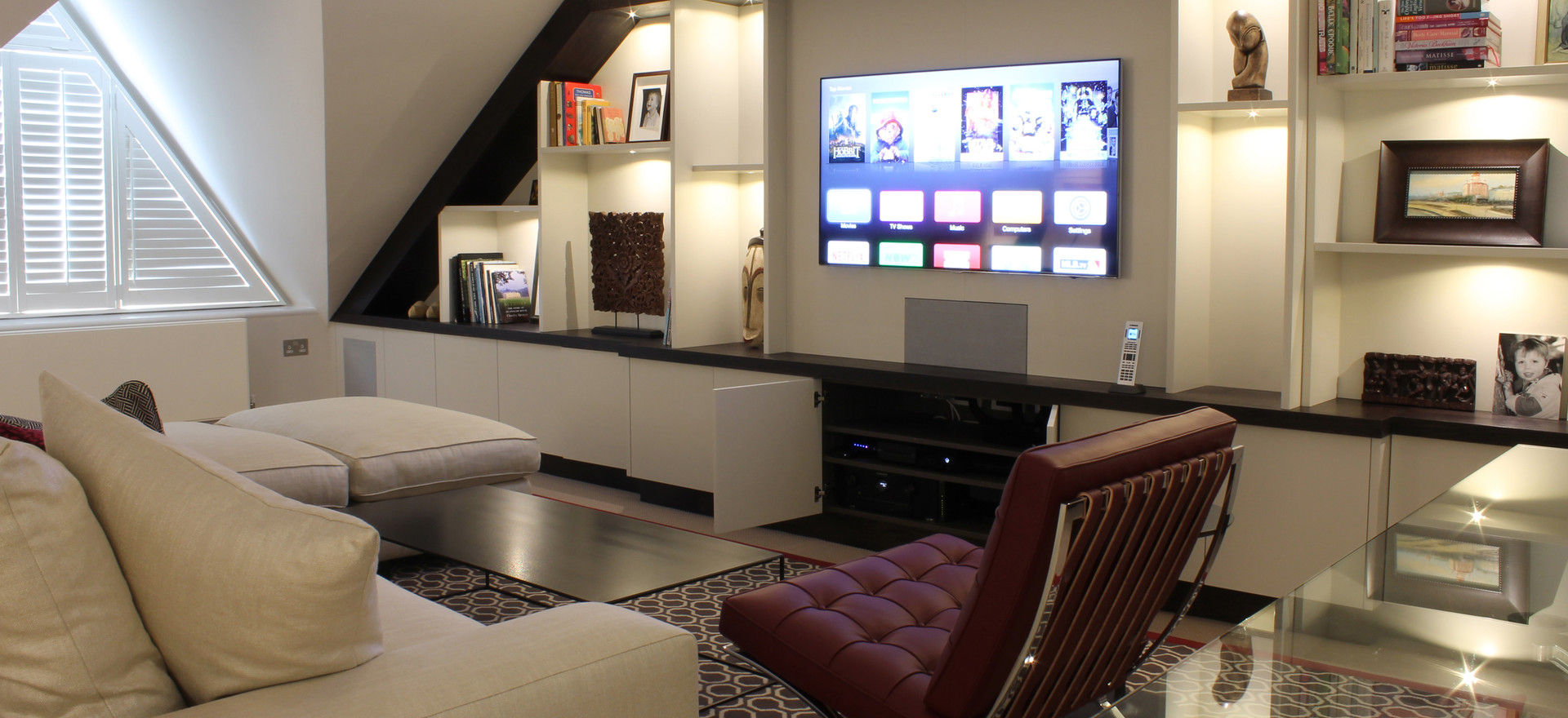 Television View with Lutron Lighting