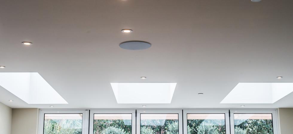 in ceiling B&W speakers