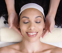 Woman receivs spa treatment in lifestyle video