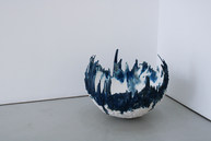 """Sophie Wing  """"The Echoes of the Skies will not break us"""" Cyanotype gypsum plaster"""