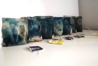 "Camila Murúa  ""Tea time"" Cyanotype on tea bags"